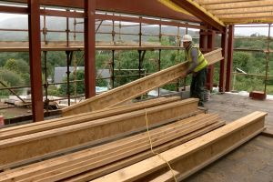Roof timber installation begins