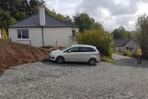 New car park created for bungalow and site vehicles