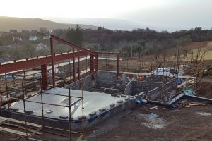 Looking across the kitchen end of the upper ground - the remainder of this floor will be beam and block construction