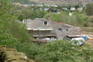 The house is beginning to look quite interesting from the Scorrybreac Path